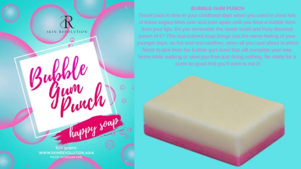 Bubble Gum Punch Pink and White Soap - Skin Revolution Asia