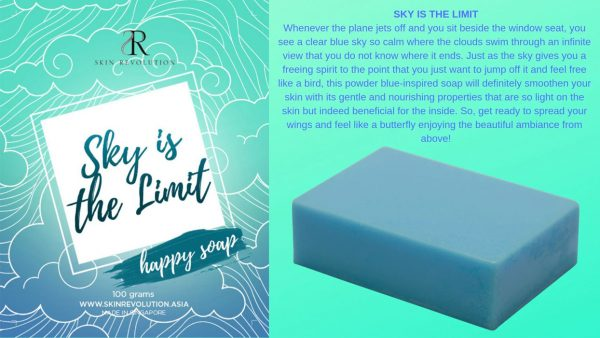 Sky is the Limit Blue Soap - Skin Revolution Asia
